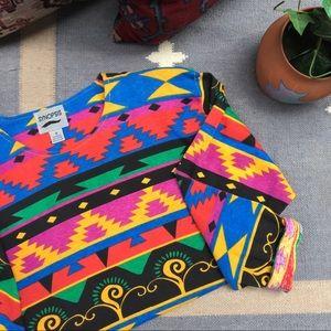 Vintage Synopsis Southwestern Aztec Tunic Top